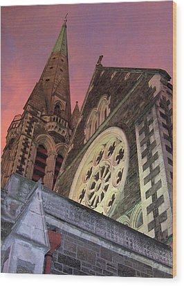 Christchurch Wood Print