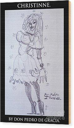 Christinne Wood Print by Don Pedro De Gracia