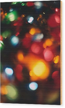 Christmas Abstract 2 Wood Print by Steve Ohlsen
