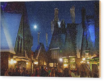 Christmas At Hogsmeade Blank Wood Print