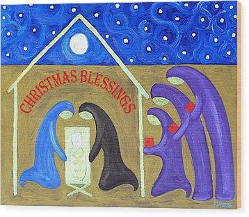 Christmas Blessings 2 Wood Print by Patrick J Murphy