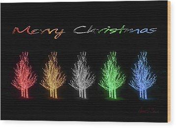 Christmas Card 2016 Wood Print