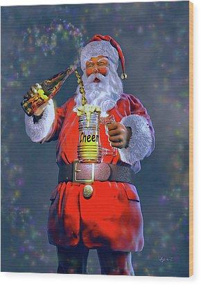 Christmas Cheer Iv Wood Print by Dave Luebbert