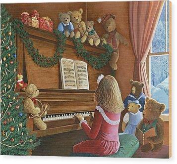 Christmas Concert Wood Print by Susan Rinehart