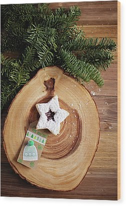 Wood Print featuring the photograph Christmas Cookies by Rebecca Cozart