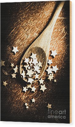 Christmas Cooking Wood Print