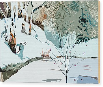 Christmas Crisp Wood Print by Mindy Newman