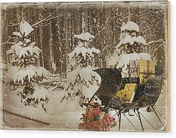 Christmas Delivery Wood Print by Maria Dryfhout