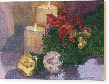 Christmas Glow Wood Print by Lynne Reichhart