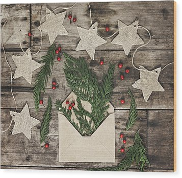 Wood Print featuring the photograph Christmas Greens by Kim Hojnacki