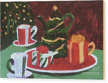 Christmas Holiday Wood Print