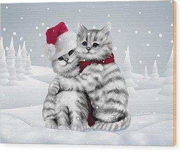 Christmas Hug Wood Print