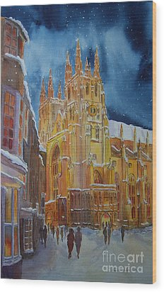 Christmas In Canterbury Wood Print