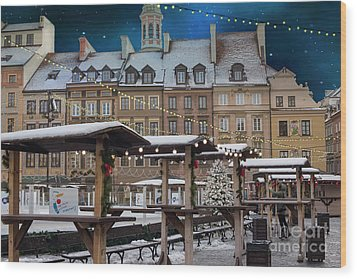 Wood Print featuring the photograph Christmas In Warsaw by Juli Scalzi