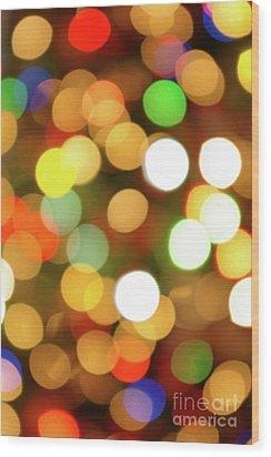 Christmas Lights Wood Print by Carlos Caetano