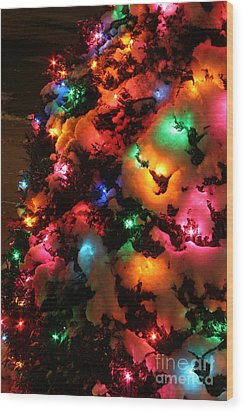 Christmas Lights Coldplay Wood Print by Wayne Moran
