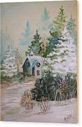 Christmas Morn Wood Print by Marilyn Smith