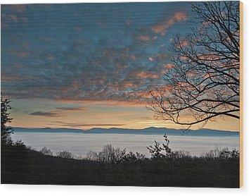 Wood Print featuring the photograph Christmas Morning Sunrise 2016 by Lara Ellis