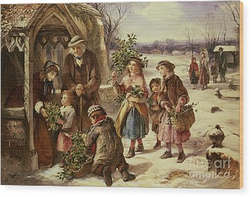 Christmas Morning Wood Print by Thomas Falcon Marshall
