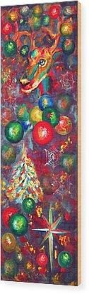 Christmas Orbs Wood Print by Peter Bonk