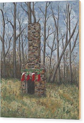 Christmas Past Wood Print by Helen Eaton