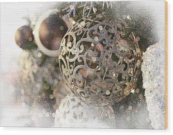 Christmas Wood Print by Helga Novelli