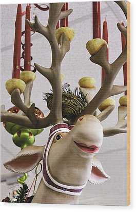 Wood Print featuring the photograph Christmas Reindeer Games by Betty Denise