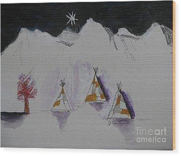 Christmas Teepees Wood Print by James SheppardIII