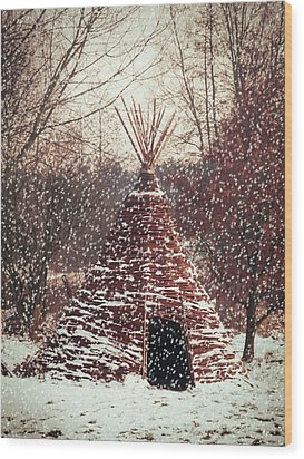 Christmas Tent Wood Print by Wim Lanclus