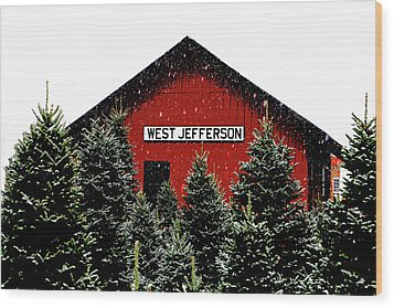 Christmas Town Wood Print by Dale R Carlson