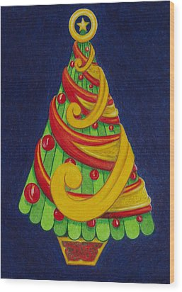 Christmas Tree No. Three Wood Print by Rick Ahlvers
