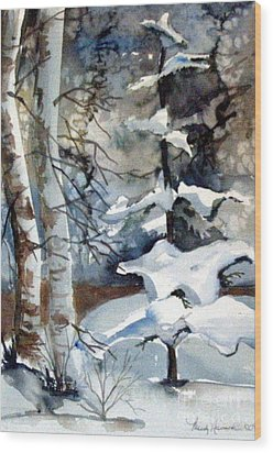 Christmas Trees Wood Print by Mindy Newman