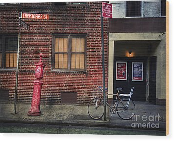 Christopher St. Bicycle Wood Print