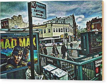 Christopher Street Greenwich Village  Wood Print