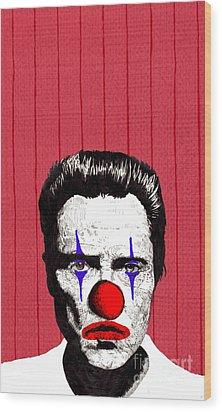 Wood Print featuring the drawing Christopher Walken 2 by Jason Tricktop Matthews