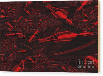 Chrome In Red Wood Print by Clayton Bruster