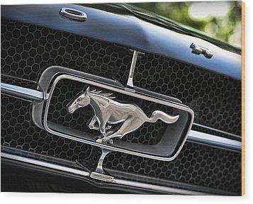 Chrome Stallion - Ford Mustang Wood Print by Gordon Dean II