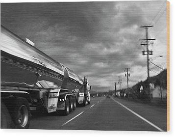 Chrome Tanker Wood Print by Theresa Tahara