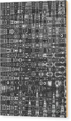 Wood Print featuring the photograph Chromosome 22 Bw by Diane E Berry
