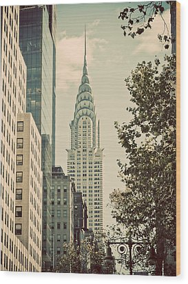 Chrysler Building Wood Print by Darren Martin