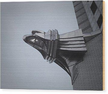 Chrysler Building Detail Wood Print by Naxart Studio