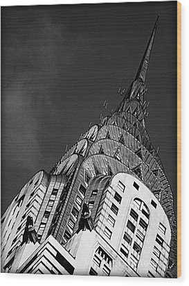 Chrysler Building's Apex Wood Print by James Aiken