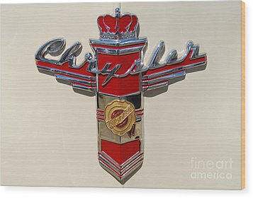 Chrysler Hood Logo Wood Print