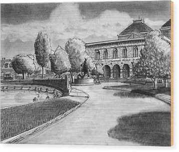 Chrysler Museum Norfolk Wood Print by Vic Delnore