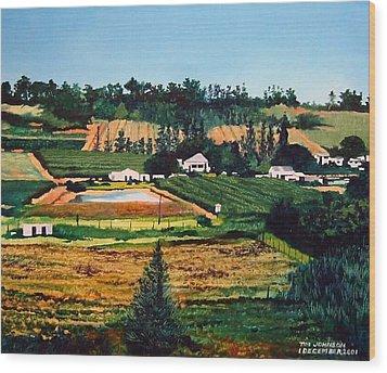 Chubby's Farm Wood Print by Tim Johnson