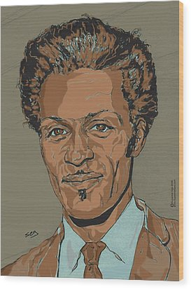 Chuck Berry - Brown-eyed Handsome Man  Wood Print by Suzanne Gee