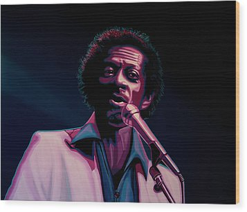 Chuck Berry Wood Print by Paul Meijering