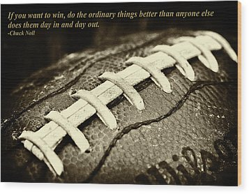 Chuck Noll - Pittsburgh Steelers Quote Wood Print by David Patterson