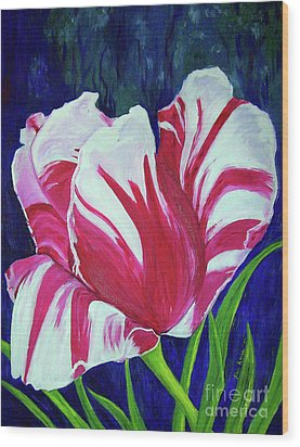 Chucks Tulip Wood Print by Lisa Rose Musselwhite