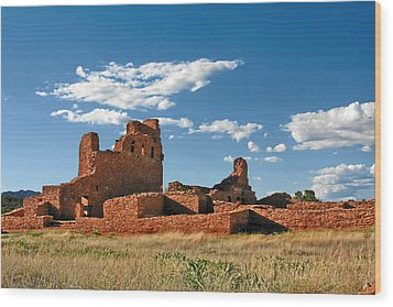Church Abo - Salinas Pueblo Missions Ruins - New Mexico - National Monument Wood Print by Christine Till
